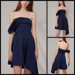 Keepsake Navy Too Late Mini Dress